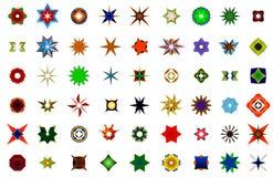 Ein Satz Logos, Ikonen und grafische Elemente Stockfotografie