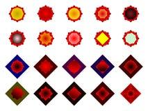 Ein Satz Logos, Ikonen und grafische Elemente Stockfoto