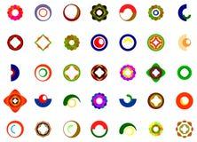 Ein Satz Logos, Ikonen und grafische Elemente Stockbild