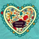Ein Satz Postkarten mit Blume Im Kreis für Grüße Stockfoto