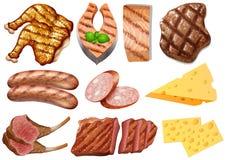 Ein Satz Protein-Lebensmittel lizenzfreie abbildung