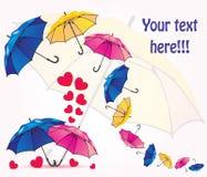 Ein Satz Regenschirme Stockbild