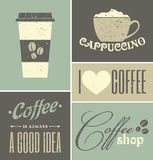 Weinlese-Kaffee-Collage Stockbild