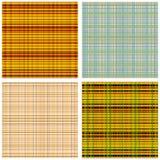 Ein Satz schottische Muster Stockfotografie