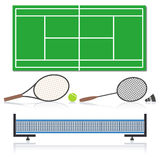 Ein Satz Sportausrüstung, Vektorillustration Lizenzfreies Stockbild