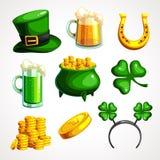 Ein Satz Symbole für von Tag St Patrick s stock abbildung