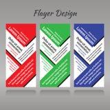 Ein Satz threel Muster für Druckerzeugnisse, Rot, Grün, blau Stockfotos