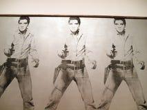 Ein Satz von sechs Selbstporträts, Andy Warhol Lizenzfreie Stockfotos