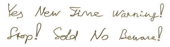 Ein Satz Wörter Von Einem Goldenen Draht Stock Abbildung ...