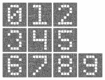 Ein Satz Ziffern Stilisierte Zahlen innerhalb eines komplexen Labyrinths lizenzfreie abbildung