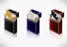 Ein Satz Zigaretten Lizenzfreie Stockfotos