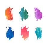 Ein Satz Zusammenfassung farbige Aquarellflecke Gut Lizenzfreies Stockbild