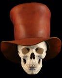 Ein Schädel in einem Tophat stockfotos