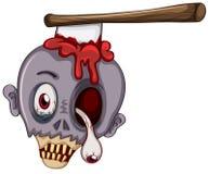 Ein Schädel eines Zombies Lizenzfreie Stockfotos