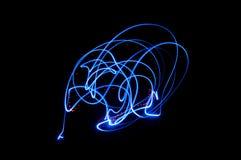 Ein Schädel hergestellt vom Licht lizenzfreie stockfotografie