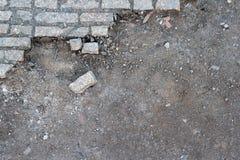 Ein schädigender Fußweg lizenzfreies stockbild