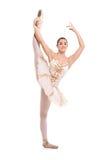 Ein schöner Ballerinatänzer, der ein Ballett bildet Lizenzfreies Stockbild