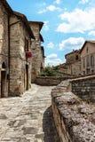Ein schöner Blick von Gubbio, italienische mittelalterliche Stadt Lizenzfreies Stockbild