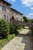 Ein schöner Blick von Gubbio, italienische mittelalterliche Stadt Lizenzfreie Stockfotografie