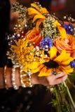 Ein schöner Brautjungfernblumenstrauß Stockfoto