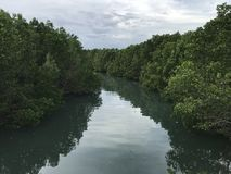 Ein schöner Fluss stockfotografie