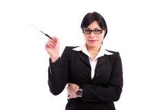 Ein schöner Geschäftsfraurauch Lizenzfreies Stockfoto