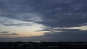 Ein schöner Himmel in Bangladesch stockbild