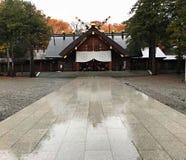 Ein schöner Hokkaido-Schrein, Hokkaido, Japan Stockfotografie