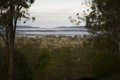 Ein schöner Sonnenaufgang über der Landschaft von Toowoomba, Australien lizenzfreie stockbilder