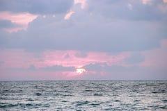Ein schöner Sonnenuntergang Stockbild