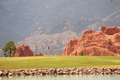 Ein schöner Tag für Golf stockfotografie