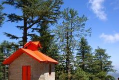Ein schöner Tempel im Himalaja Stockbild