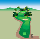 Golfplatz stock abbildung