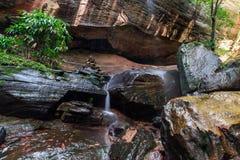 Ein schöner Waldwasserfall lizenzfreie stockbilder