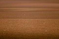 Ein schönes braunes Muster auf einem Feld im Frühjahr Abstrakter, strukturierter Hintergrund Stockbilder