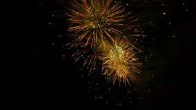 Ein schönes Feuerwerk stock footage