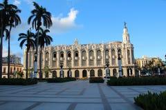 Ein schönes historisches Gebäude im Stadtzentrum in Havana Lizenzfreies Stockfoto
