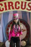 Ein schönes Kostüm für die Ausführung am Stadium des Zirkusses stockfoto