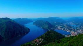 Ein schönes Land in der Schweiz, Brè stock footage