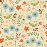 Ein schönes nahtloses Blumenmuster Stockfoto