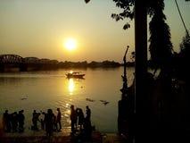 Ein schönes Naturbild und ein wunderbarer Sonnenuntergang lizenzfreie stockfotos