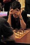 Ein Schach-Meister der Frauen Welt Stockbilder