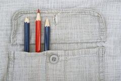 Ein scharfer roter Bleistift Stockfotos