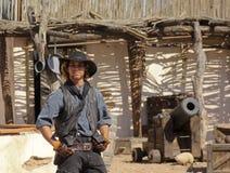 Ein Schauspieler bei altem Tucson, Tucson, Arizona Lizenzfreie Stockfotografie