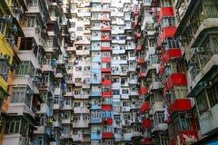 Ein Schauung herauf Ansicht der Steinbruch-Bucht in Hong Kong, China Stockfotos