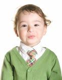 Ein schüchterner kleiner Junge Lizenzfreies Stockbild