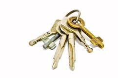 Ein Schlüsselbund getrennt stockbild