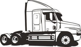 Ein Schlussteil-LKW ohne den Ladungbehälter Stockfoto
