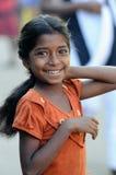 Ein schmutziges Mädchen mit schönem Innerem Stockfoto