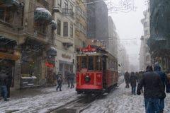 Ein schneebedeckter Tag stockbilder